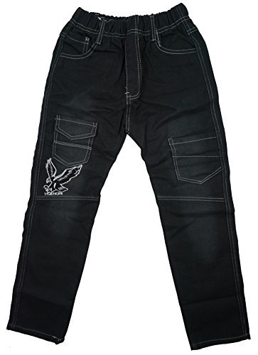 boys-eagle-motif-denim-combat-pocket-fashion-jeans-sizes-from-2-to-12-years