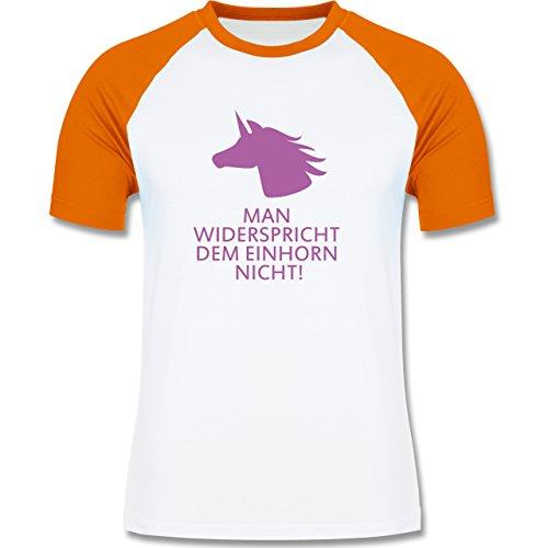 Nerds & Geeks - Einhorn - man widerspricht dem Einhorn nicht! - zweifarbiges  Baseballshirt für