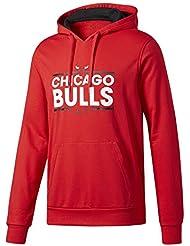 adidas Basics Sweat-shirt Chicago Bulls pour homme, Rouge (Nbacbu), L