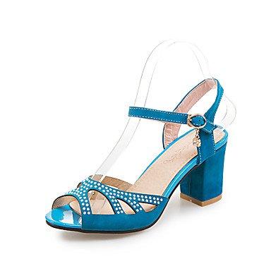 LvYuan Da donna-Sandali-Formale Casual Serata e festa-Altro-Quadrato-PU (Poliuretano)-Nero Blu Verde Rosso Blue