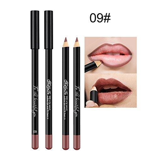 Lippenstift aufbewahrung,IMJONO 12 Farbe wasserdichte Lippenstift Lip Liner langlebig Matte Lipliner...