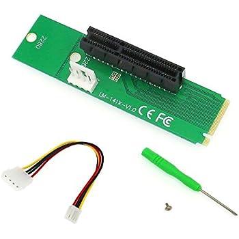 NGFF M.2 vers PCI-E 4 x 1 x Riser Card M2 M Key to PCIe x4 X1 adaptateur convertisseur avec câble d'alimentation 4 broches pour BTC LTC ETH mineur …