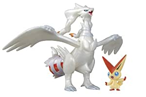 Pokemon Plamo Collection (Pokebla) Plastic Model Kit / Modellbausatz Figuren Set: Victini and the White Hero Reshiram (zum Zusammenstecken)