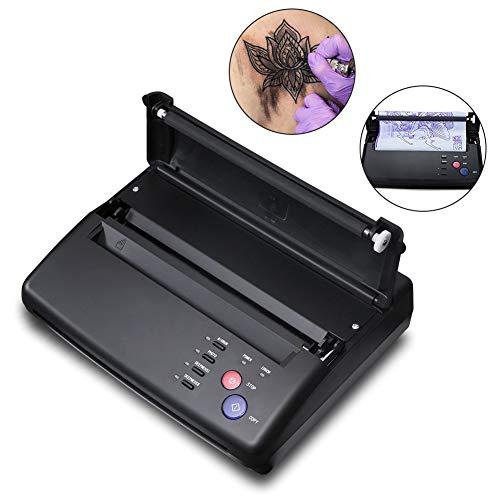 Tattoo Transfer Kopierer Thermische Schablone Drucker Maschine + Schablone Papiere(Schwarz) (Design-kopie-papier)