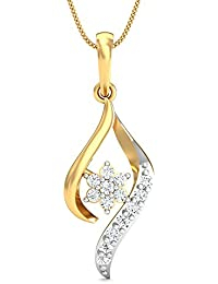 Stylori 18k Two Color Gold and Diamond Vedha Pendant