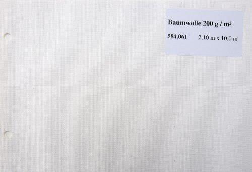 Maltuch Baumwolle 200g, 2,10x10m