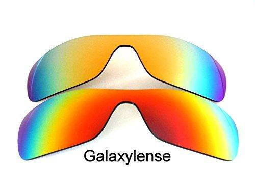 Galaxis Ersatzgläser für Oakley Antix rot & Gold Farbe Polarisiert,GRATIS S&H.2 Paar - Rot & Gold