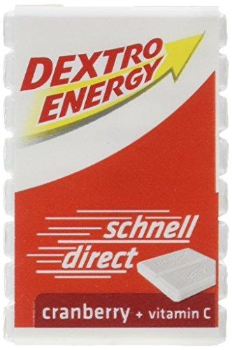 Dextro Energy Würfel Cranberry / Je 8 Dextrose-Täfelchen mit schnell verfügbarem Traubenzucker und zusätzlichem Vitamin C / 9 Packungen (9 x 46g) -