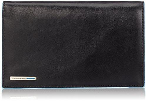 Piquadro PU1665B2 Portafoglio, Collezione Blu Square, Nero