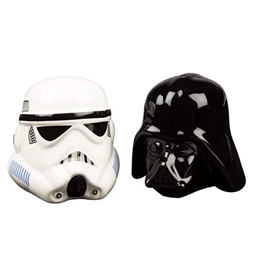 Star Wars Darth Vader & Stormtrooper - Salz- und Pfefferstreuer Gewürzspender schwarz/weiß
