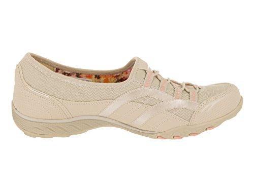 Skechers Breathe Easy-Faithful, Sneaker Donna Beige (Natural)