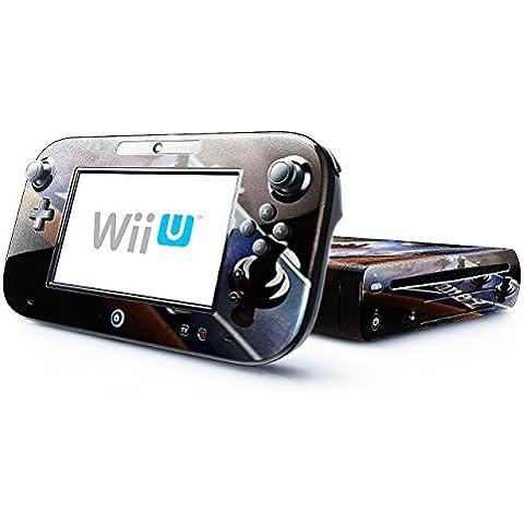 Musica 025, Chitarra, Skin Autoadesivo Sticker Adesivi Pelle Cover Decal Set con Disegno Strutturato con Nintendo Wii U