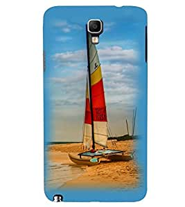 Printvisa Beautiful Yatch At Beach Back Case Cover for Samsung Galaxy Note 3 Neo N7505