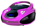 CD-Player | Tragbares Stereo Radio | Kinder Radio | Stereo Radio | Stereoanlage | USB | CD / MP3 Player | Radio | Kopfhöreranschluss | AUX IN | LCD-Display | Batterie sowie Strombetrieb | (Pink)