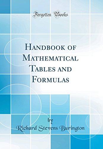 Handbook of Mathematical Tables and Formulas (Classic Reprint)
