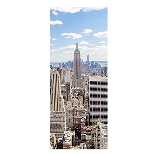 Peanutaod 3D Tür Poster New York Manhattan Für Schlafzimmer Salon Dekoration
