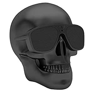 Halloween Hallowmas Christmas Skull Head Bluetooth Speaker Portable Wireless Bluetooth Audio Stereo Subwoofer Speaker for Mobile Phone MP4 MP3 PC Laptop, Halloween Christmas Creative Decorations Gifts
