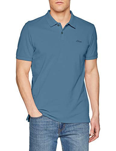 s.Oliver Herren Poloshirt 03.899.35.4586 Blau (Oxide Blue 5474), XX-Large