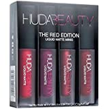 HUDA BEAUTY LIQUID MATTE MINIS LIPSTICK (SET OF 4) (THE RED EDITION)