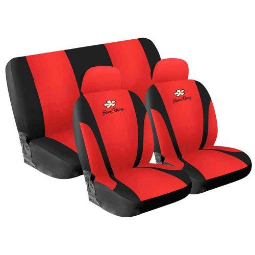 Simoni Racing CSR/DA-R Housses de sièges Daisy Microfibre 4 pièces Rouge