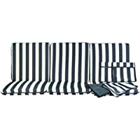 stiliac 9601t311Juego almohadas Repuesto, rayas azul/blanco, 174x 58x 8cm