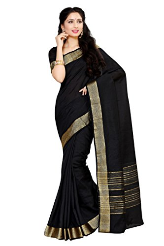 Mimosa By Kupinda Crepe Saree Kanjivaram Style Color: Black (4035-2126-SD-BLK)  available at amazon for Rs.799