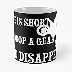 Life Is Short So Drop A Gear And Disappear - Dirtbikelovers Classic Mug Best Gift 110z For Your Friends