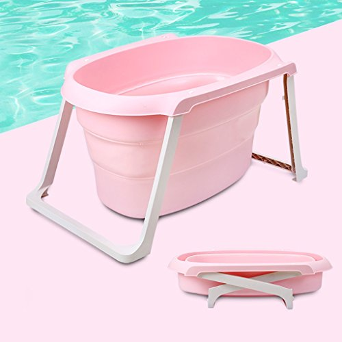 Große Größe Baby faltbar weichen Pool, Kleinkind baden tragbare Bidet, Badewanne (blau + pink) HUACANG ( Farbe : Rosa , Size : A )