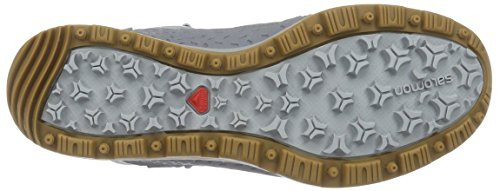 Salomon  Kaïna Mid GTX, Chaussures de trekking et randonnée femme Blanc - Weiß (Light Onix/Pearl Grey/Mist Blue)