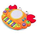 LIPENG-TOY Vorschule Baby Krabben Baby Tastatur Spielzeug Baby Musik Elektrische Spielzeug Puzzle 6-12 Monate (Farbe : Orange)