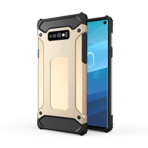 Forhouse Hülle Durable Protective Case Hülle, Thin Anti-Scratch Skin Back Hülle Full Cover für Samsung Galaxy S10 Lite - Golden