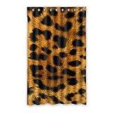 """dalliy personalizado estampado de leopardo cortina de ventana poliéster 52""""X84"""" sobre 132cm x 213cm (una sola pieza), poliuretano, A, 52"""" x 84"""""""
