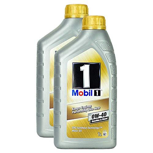 2 X olio motore Mobil 1 Fs 0w-40 1L Shc Synthese tecnologia Diesel benzina ad alta potenza durevole olio motore One Protection Formula Shc avviamento freddo olio motore protezione motore lunga durat