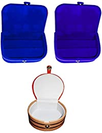 Afrose Combo 1 Pc Blue Earring Box 1 Pc Blue Ear Ring Folder 1 Pc Bangle Box Jewelry Vanity Case