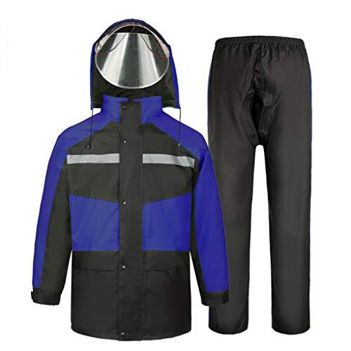 Regenanzug für Männer und Frauen Wiederverwendbare Regenkleidung (Regenjacke und Regenhose Set) Erwachsene wasserdicht regendicht Winddicht mit Kapuze (Farbe : C, größe : XXXL)