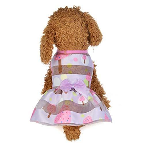 Mütter Heiße Für Kostüm - AMURAO Sommer Hund Kleid Haustier Katze Schmetterling Cartoon Print Bogen Kuchen Rock Kostüme Haustier Spitze verziert Kleidung