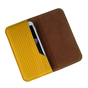 i-KitPit : PU Leather Flip Pouch Case Cover For Micromax Bolt A47 (YELLOW)