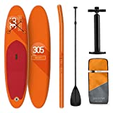 KLAR FIT Stand Up Paddle Gonflable • Spreestar 305x10x77cm • Planche de Paddle Set: Sup-Board + Pompe Haute Pression + Sac à Dos Robuste + Leash Premium + Surf Cruiser Kit de Réparation
