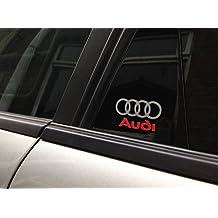 4x Audi Logo Door Aufkleber Sticker Decal 5x3cm Die Cut Quattro Sport RS R8 TT A1 A3 A8 Q5 Q7 Auto Car Racing
