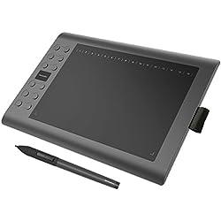 GAOMON M106K-10 x 6 Pouces Tablette Graphique Professionnelle avec Stylet et 12 Raccourcis Dessin Numérique