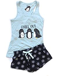 Love to Lounge Ladies Girls Conjunto de Pijama Shorts y Top Size S - XL (