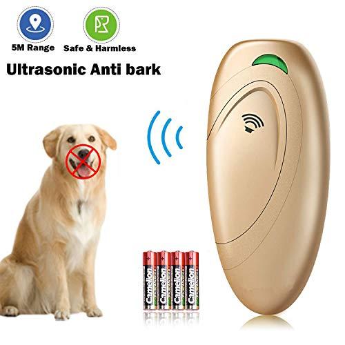 XKK Ultraschall Hunde Repeller und Trainer Gerät, Hunde Anti Bellen Stop Rinde Hunde Training Gerät Handheld Hund Stop Bark Trainer für große und kleine Hunde, 100% sanft & sicher