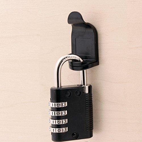 Padlockable Cam Lock 7840-US19, Matte Black Finish by Padlockable Cam Lock