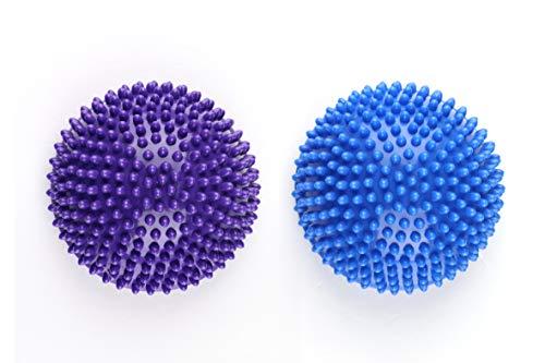 Saiway Balance-Kugeln 2er-Set, 8cm hoch und 16cm Durchmesser in blau und lila