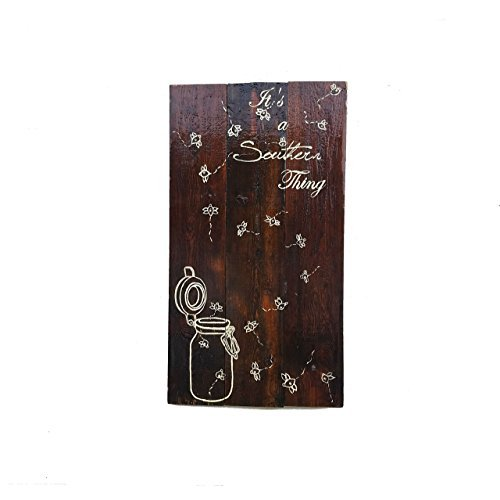 Norma Lily 45,7x 81,3cm Beleuchtet Firefly in Mason Jar IT 'S A Southern Thing Schild aus Holz Wandschild