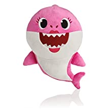 BabyShark Singing Plush - Music Sound Baby Shark Plush Doll Soft Baby Cartoon Shark Stuffed & Plush Toys Singing English Song For Kids Gift Children Girl - Pink Color