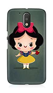 Amez designer printed 3d premium high quality back case cover for Motorola Moto G4 (Cute Girl)