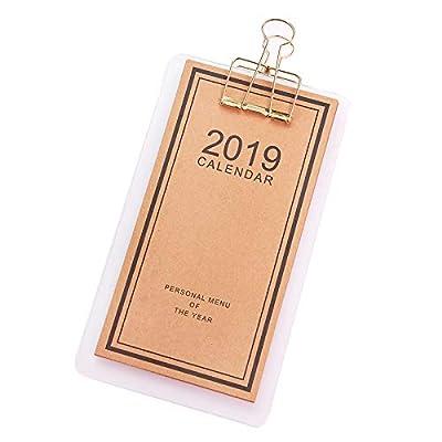 Simple Tablero Portátil Clip Calendario Calendario Escritorio Calendario Papelería Creativa de SMAQZ