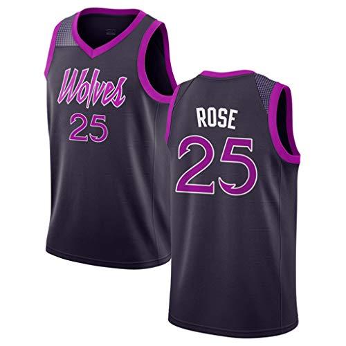 Oquta Derrick Rose,Minnesota Timberwolves #25 Basketball Jersey Black Purple Derrick Rose Jersey