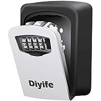 Diyife – Caja de Seguridad para Llaves, Montaje en la Pared, Almacenamiento Seguro para la casa, el Garaje, el Colegio y repuestos de Llaves, tamaño Mediano